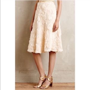 Anthro Hd in Paris Tufted Blossom Skirt